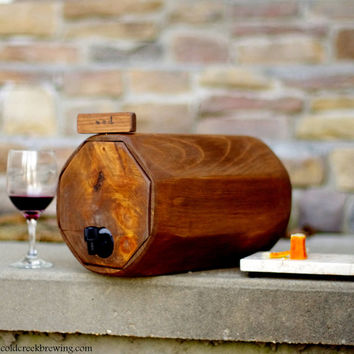 Wine Barrel, 3 QTY. - Wedding Reception - Gift Idea - Rustic Wedding Decor - Wine Decanter-QTY. 3