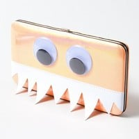 Googly Eye Monster Hardcase Wallet  | Claire's
