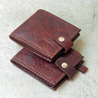 Handmade Men's Leather Wallet - Biker Chian, Billfold, Bifold, Tooled, Hand-stitched, Personalized Gift for Him, Anniversary Gift