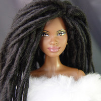 TABLOACH Custom African-American Black Barbie Wig with Dreadlocks 9133 (LIMITED EDITION)