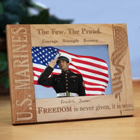 U.S. Marines Wood Picture Frame
