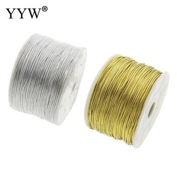 ac spbest 100 Yards/Lot Nylon Cord 1.5mm DIY Rope Bead Necklaces Pendant Bracelets Charms Findings String Cord Making Accessories