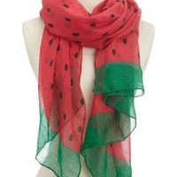 Watermelon Print Scarf by Charlotte Russe - Multi