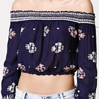 LA Hearts Smocked Off The Shoulder Top at PacSun.com