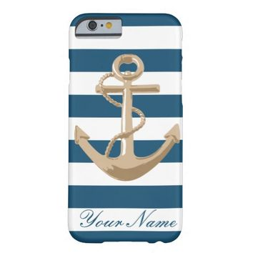 Maritime and Nautical with Anchor Barely There iPhone 6 Case
