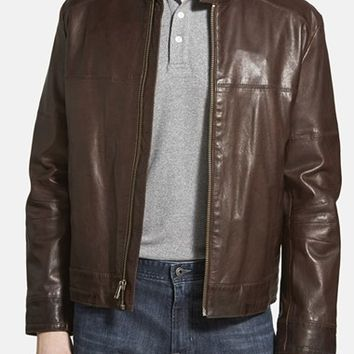 Men's Cole Haan Leather Moto Jacket,