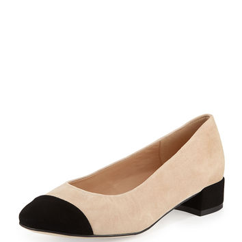 Veronice Cap-Toe Low-Heel Pump - Andre Assous