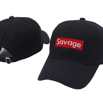 SAVAGE Embroidered Baseball cotton cap Hat