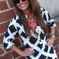 Checkered Pattern Tunic | The Rage
