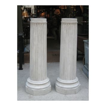 Pair of 19th C. Fluted Pedestals