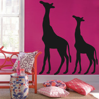 Giraffe Vinyl Wall Decal- Giraffe- Vinyl Lettering Decor Words for your wall  Quotes for the wall