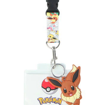 990fb475 Pokemon Eevee Evolutions Lanyard from Hot Topic