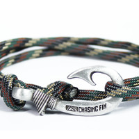Standard Camo Fish Hook Bracelet (New)