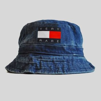 Very Rare Tommy Denim Bucket Hat | KYC Vintage