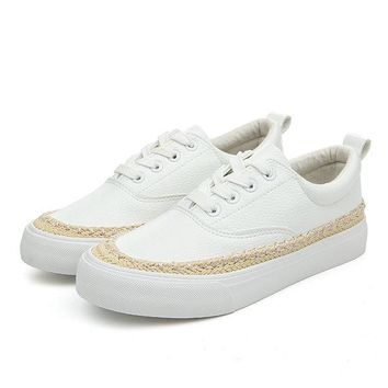 M.GENERAL Woven Flat Casual Stitching Sport Sneaker Shoes For Women