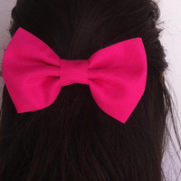 Pink  bow BIG hair bow1
