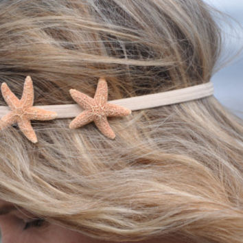 Starfish Headband with TWO Starfish Hippie by ShepherdoftheSea