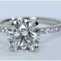 1.46ct E-VVS2 Round Diamond Engagement Ring Round Diamond Platinum JEWELFORME BLUE  GIA certified