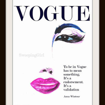 Vogue Magazine cover design, Marilyn Monroe Poatrait, Printable, Wall Art, decor, illustration, decal  decals, print, chanel, modern, poster