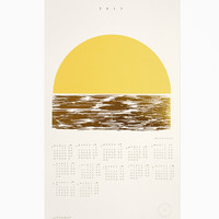 2015 Golden Weekends Calendar - Letterpress and Gold Foil