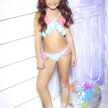 Mar de Rosas - Mar de Cielo | Designer Childrens Swimsuit