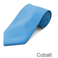 Cobalt Wedding Tie and Hanky Set