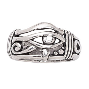 Sterling Eye of Horus Ring - New Age, Spiritual Gifts, Yoga, Wicca, Gothic, Reiki, Celtic, Crystal, Tarot at Pyramid Collection