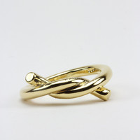 Gold Knotted Ring