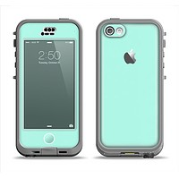 The Subtle Solid Green Apple iPhone 5c LifeProof Nuud Case Skin Set