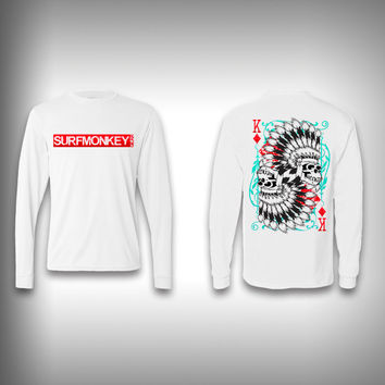 King of Diamonds Monkey - Performance Shirt - Fishing Shirt