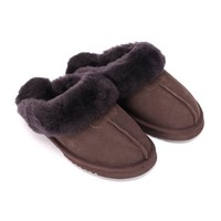 Sheep Touch Women's Classic Twin-Face Sheepskin Slippers Chocolate