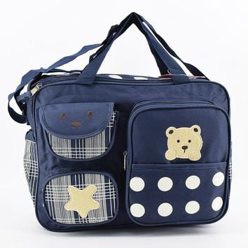 Super Kawaii Multi-Pocket Diaper Bag For Mommy High Capacity Nappy Organizer Baby Bag Women Travel Maternity Bag Handbag