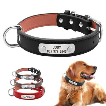 Durable Padded PU Leather Dog Collar