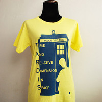 Doctor Who and Tardis Ver.2 T-shirt short sleeve