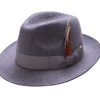 Men's Pinch Felt Fedora Hat By Montique H-08