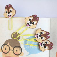 Chipmunk squirrel , Chip and Dale Bookmark Paperclips