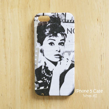 Audrey Hepburn iPhone 5 case / iPhone 5S case / iPhone 5C case / iPhone 4 case / iPhone 4S case