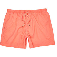 River Island MensOrange drawstring swim trunks