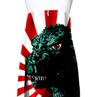 Godzilla Rising Sun Pop Art Strapless Dress