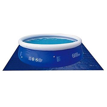By PoolCentral 12.8' Square Blue Swimming Pool Ground Cloth