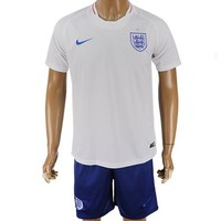 2018 World Cup England Team Football Clothes Football Shirt Football Jersey Soccer Jersey Soccer Uniform (2 Piece)