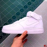NIKE AIR FORCE tide brand men and women models simple wild high-top sports shoes #1