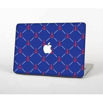 The Red & Blue Seamless Anchor Pattern Skin for the Apple MacBook Air 13""