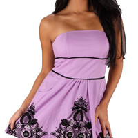 Voom Jenn Victorian Strapless Dress