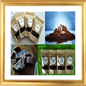 Beef Jerky & Coffee Gourmet Deliciously Deluxe Unique Gift Set of 8 bags for Great Gift Christmas Birthday For Men For Boyfriend Koffie Gift