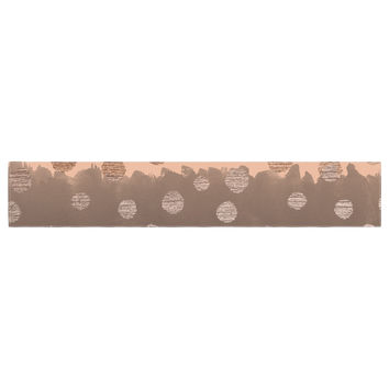 "Nika Martinez ""Earth Dots"" Brown Table Runner"