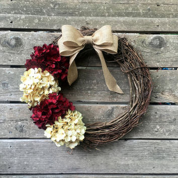 Fall Wreath, Front Door Decoration, Fall Wreathes, Door Wreath, Fall Decor, Autumn Wreath, Fall Wreaths, Hydrangea Wreath, Outdoor Wreath