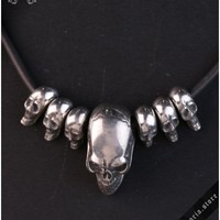 7 Skulls necklace | PENDANTS | PENDANTS & NECKLACES | Necklaces, rings, earrings, braselets, watches, tiaras, necklets and other jewelry | GOTHIC, METAL, PUNK, LOLITA & STEAMPUNK FASHION ACCESSORIES FOR MEN AND WOMEN