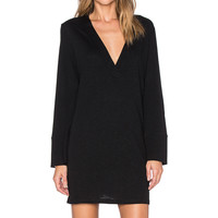 Lanston Deep V Dress in Black