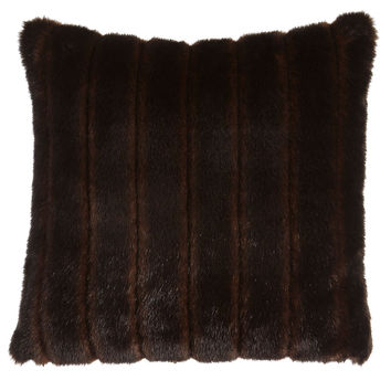 "Faux-Mink Pillow, 20""Sq. - Dian Austin Couture Home"